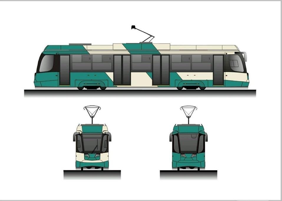 Челябинские трамваи вслед за автобусами покрасят в зеленый цвет  1
