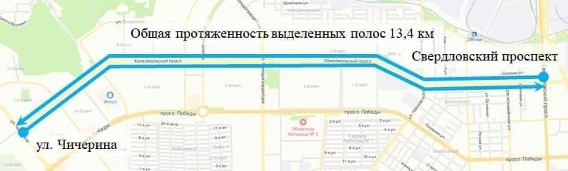 Автобус обгонит пробки: в Челябинске появится выделенка для общественного транспорта 1