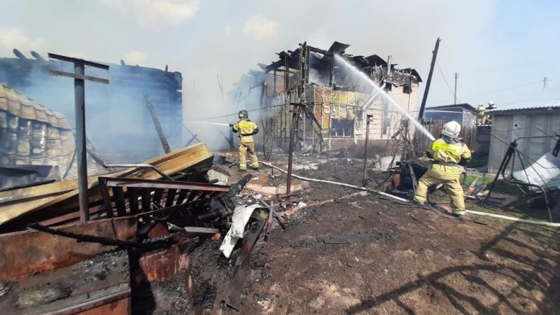 Пожар на ул. Орловская