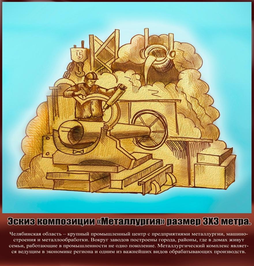 Купцы, металлурги, танки и паровозы: челябинский Сад камней украсят песчаными скульптурами 6