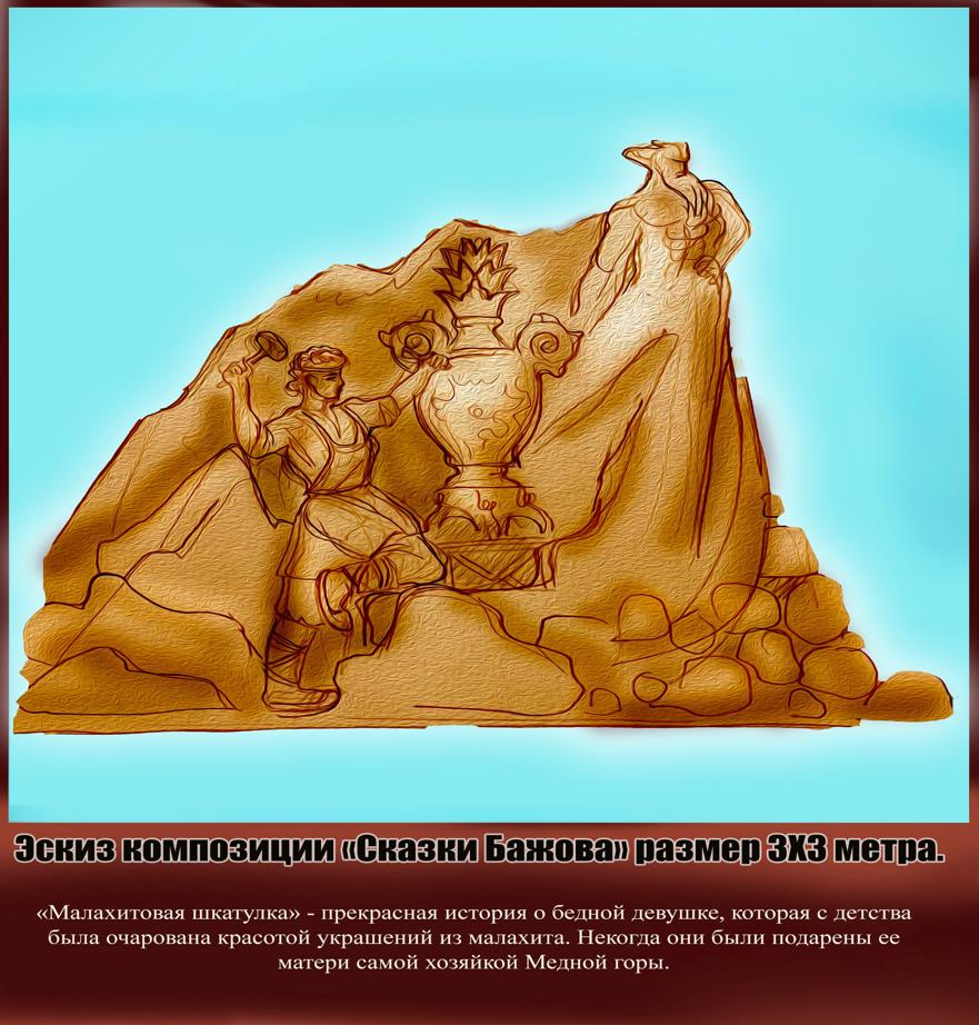 Купцы, металлурги, танки и паровозы: челябинский Сад камней украсят песчаными скульптурами 7