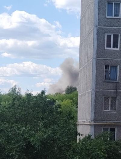 Пожар по улице Соликамской. Фото: Е1