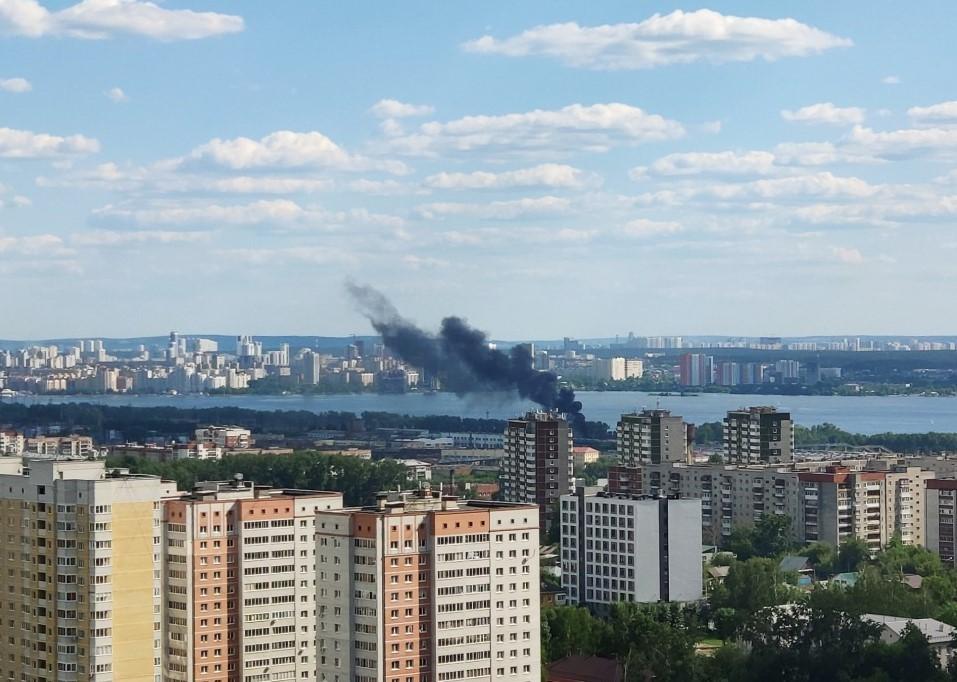 Пожар в районе Электродепо. Фото: Е1