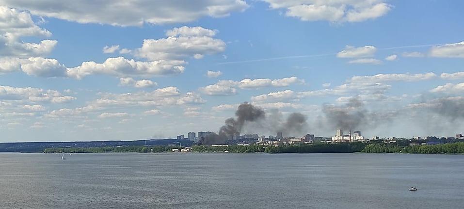 Пожар на Сортировке. Фото: DK.RU