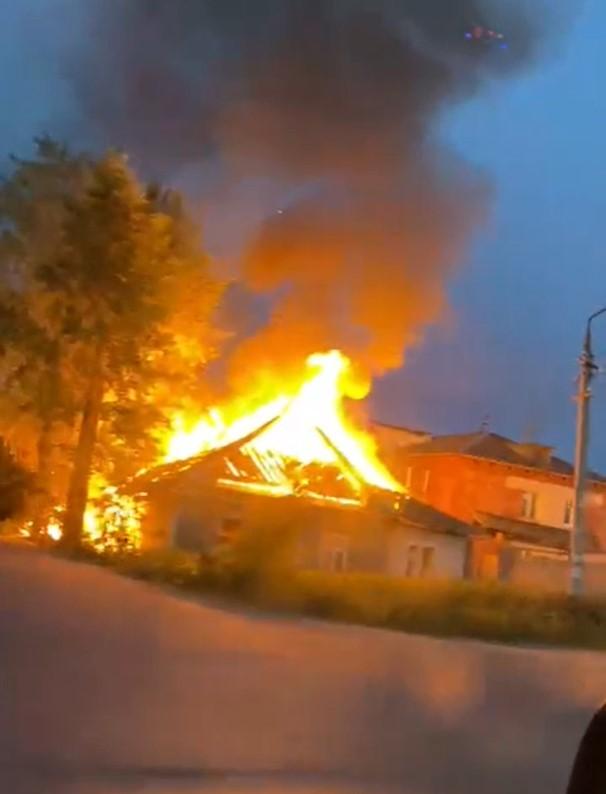 Пожар на Балтыме. Фото очевидца