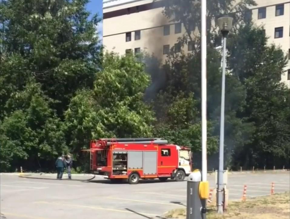 Пожар на Большакова. Фото очевидца