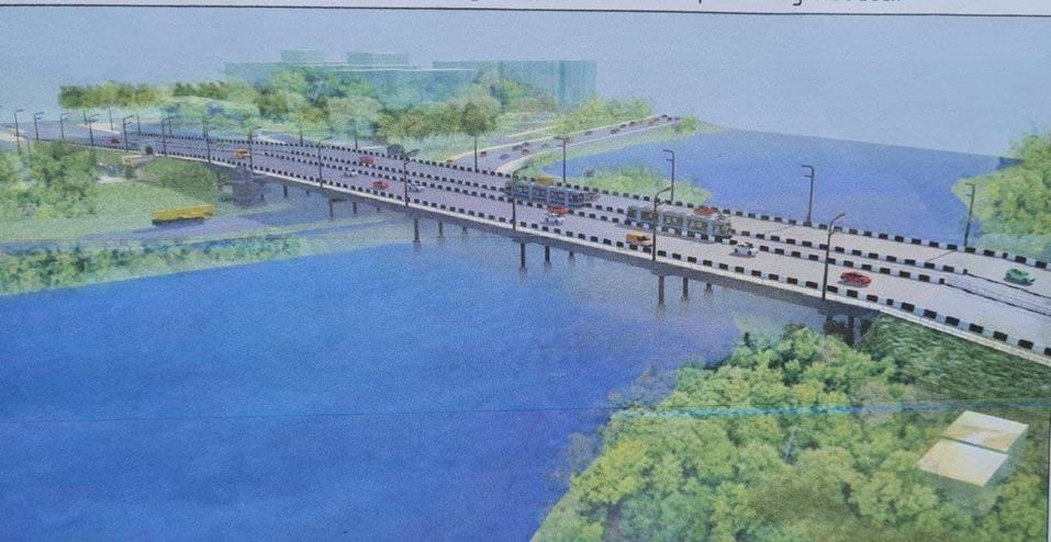 Шесть полос и выделенка для трамвая: опубликованы эскизы обновленного Ленинградского моста 2