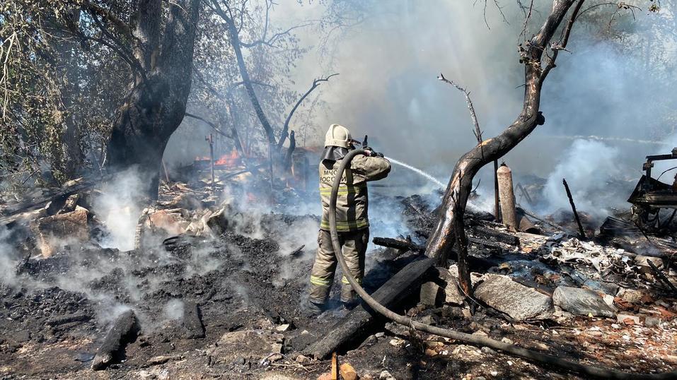 Пожар на ул. Полежаевой