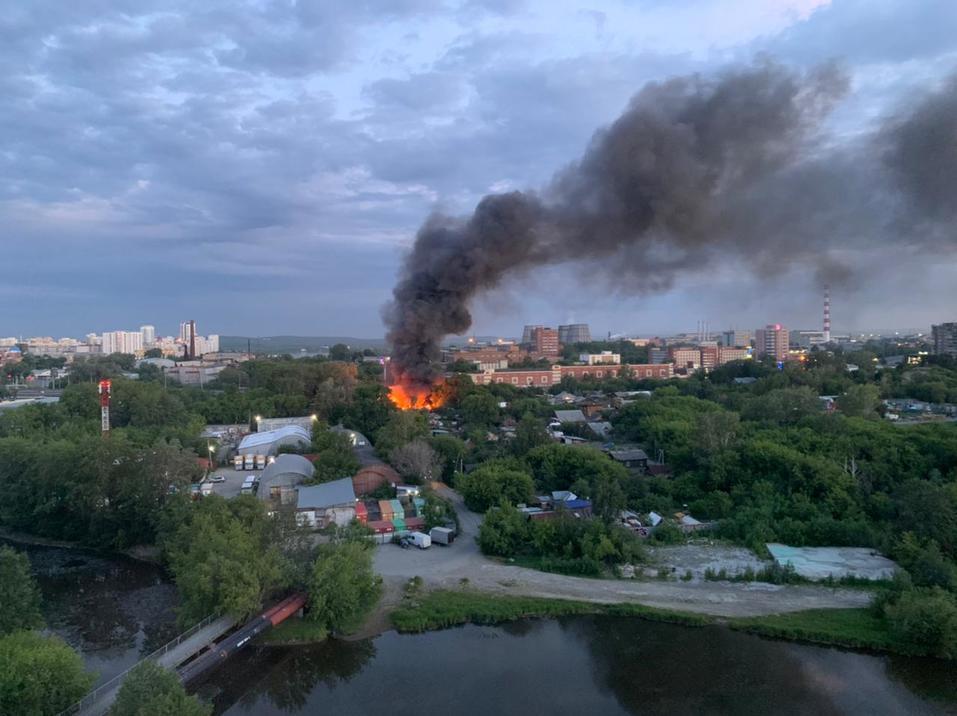Пожар в Заречном