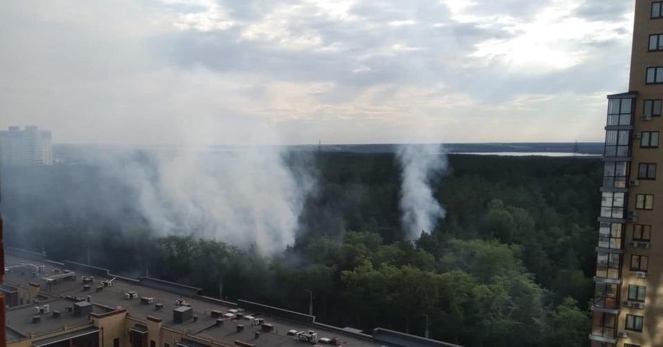 В Челябинске второй день подряд горит городской бор 1