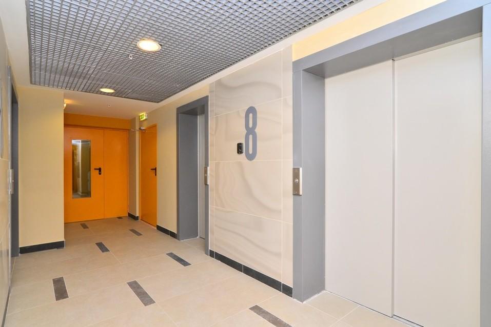 Лифтовый холл ЖК Woods. Фото: Константин Мельницкий, 66.RU