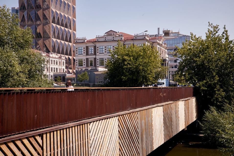 Пешеходный мост через Исеть
