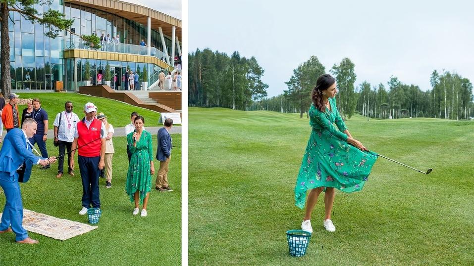 Победители VIP-турнира по гольфу получат золотые нагрудные знаки CHAMOVSKIKH 1