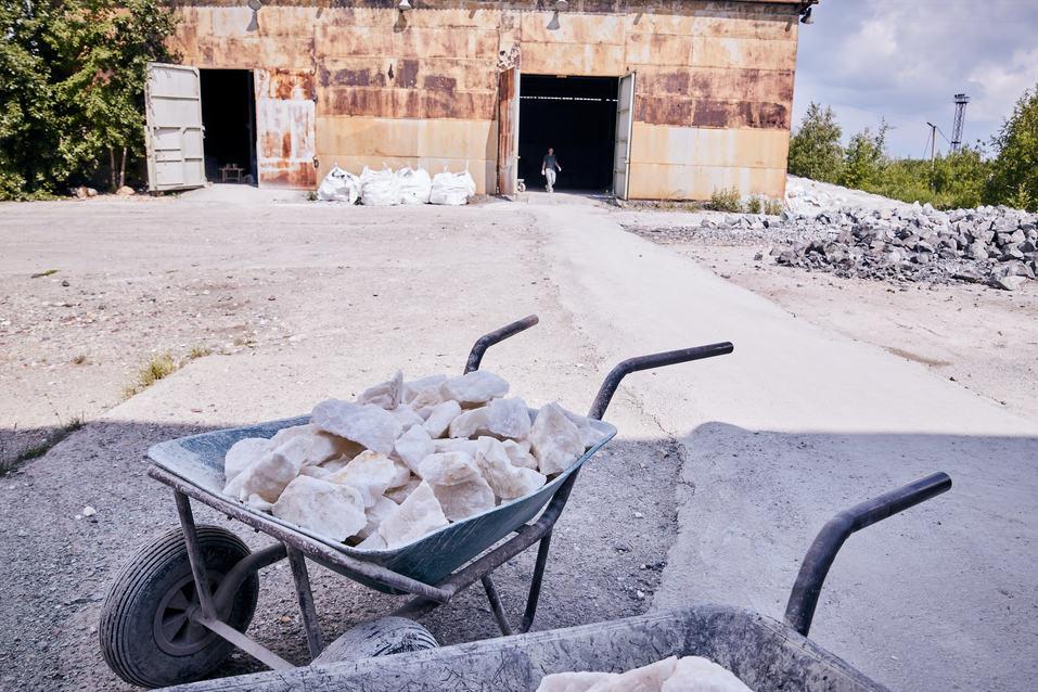 Производство камней для бани