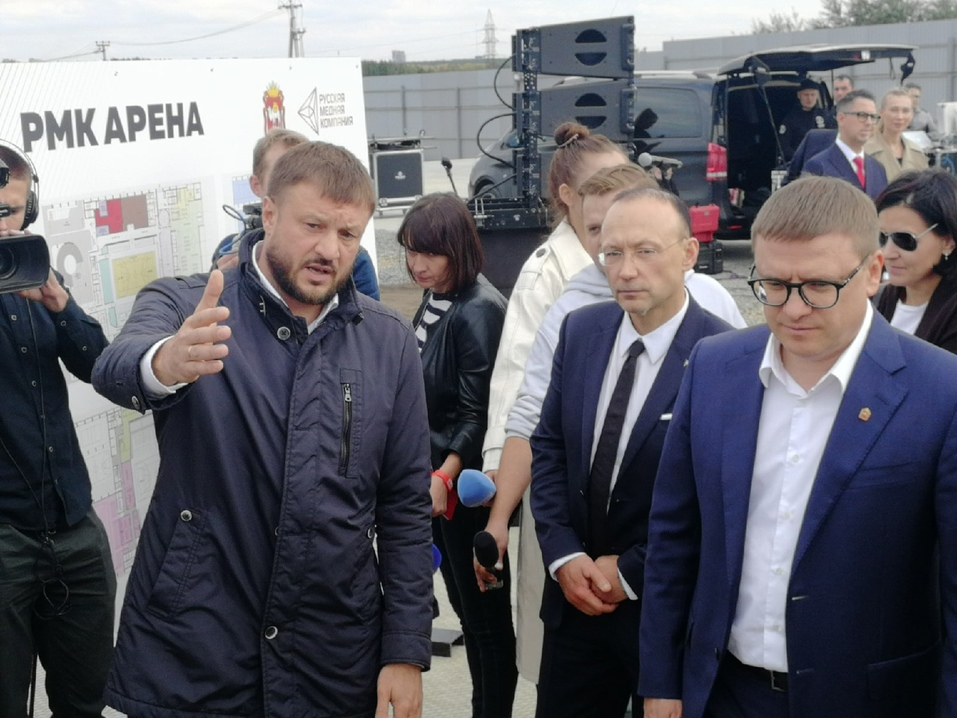 Алексей Текслер и Игорь Алтушкин основали в Челябинске «РМК Арену» 5