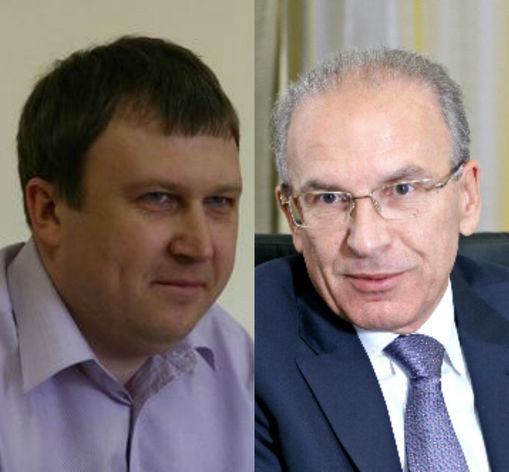 Олег Хан, предприниматель, Владимир Черкашин, председатель правления Уральского банка Сбербанка