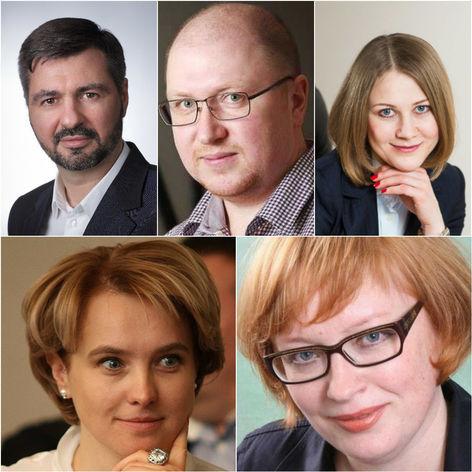 Слева направо и сверху вниз: Ярослав Савин, Антон Халиков, Елена Киселева, Ирина Екимовских, Елена Ларичева