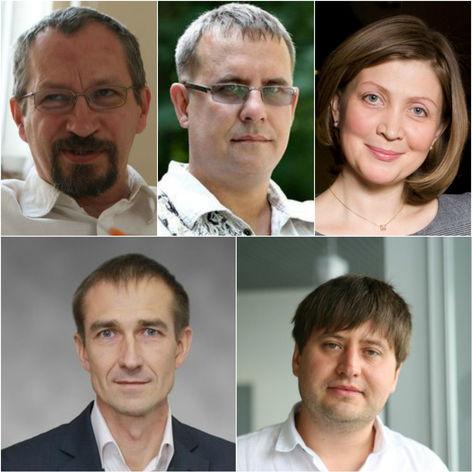 Слева направо и сверху вниз: Александр Давыдов, Виталий Листраткин, Ирина Зырянова, Алексей Филиппов, Алексей Головченко