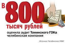 ЦИФРА НЕДЕЛИ: Челябинская фирма попросила за аудит ГОКа 800 тысяч и заблокировала конкурс