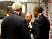 Перед саммитом G20 Путин и Обама пожали руки и кратко поговорили
