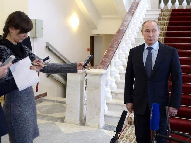 Президент РФ Владимир Путин отвечает на вопросы журналистов об инциденте с Су-24