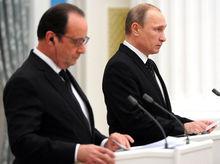 Встреча Путина и Олланда: пять главных заявлений
