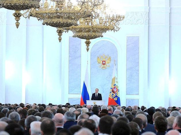 Пять главных цитат Путина из послания Федеральному собранию