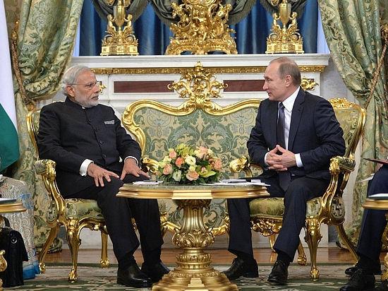Россия ищет новых друзей: Владимир Путин встретился с Нарендрой Моди