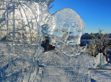 На набережной открылся ледовый городок в космическом стиле
