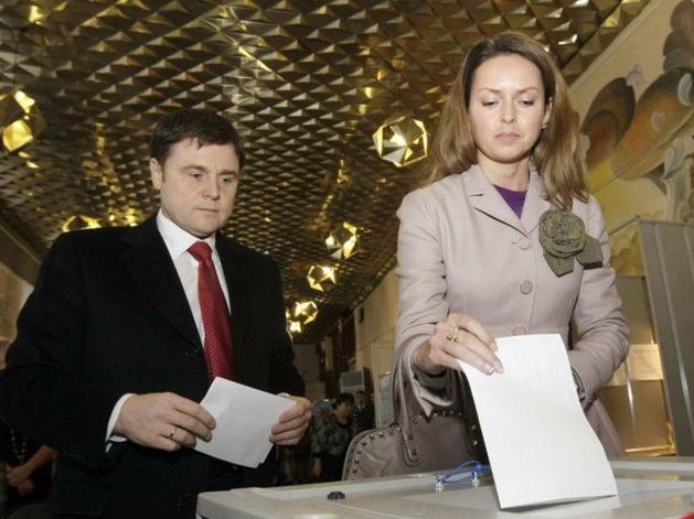 Ольга Груздева с супругом Владимиром Груздевым