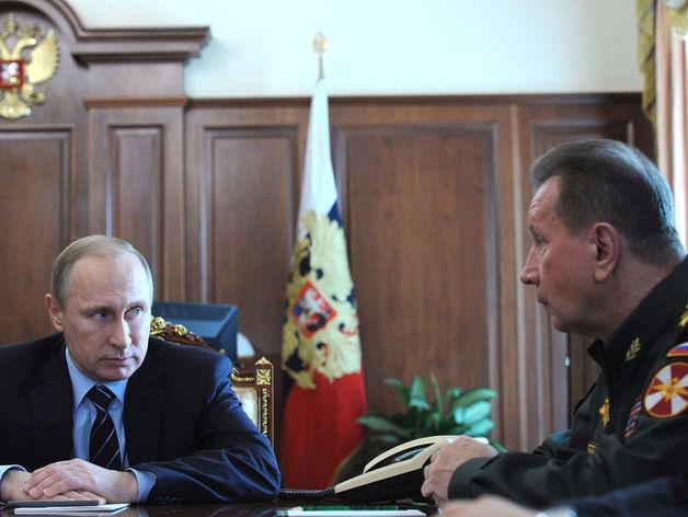 Владимир Путин и Виктор Золотов