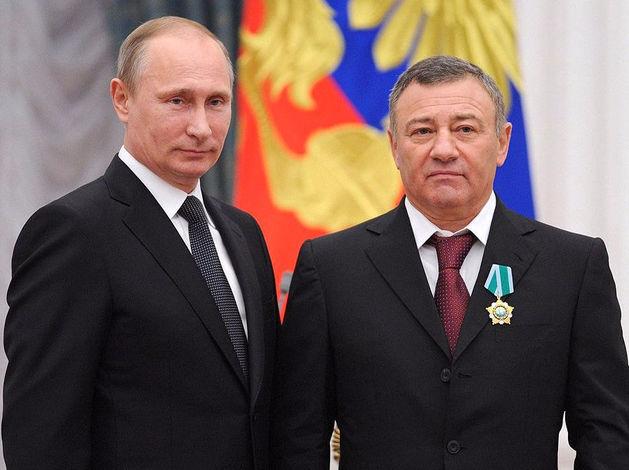 Аркадий Ротенбеерг и Владимир Путин