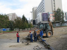 Прокуратура проверяет новую стройку на Театральной площади в Красноярске