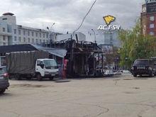 В центре Новосибирска сгорело кафе