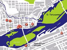 Найти номера: карта гостиниц Красноярска для бизнеса