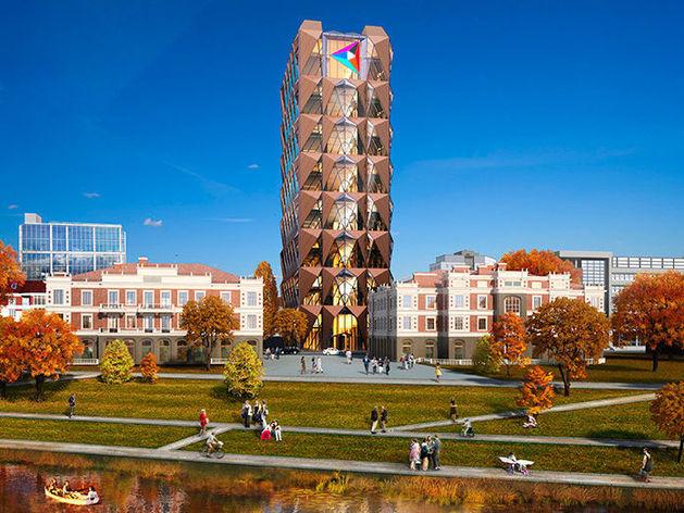«Башня-кристалл» РМК в центре города вырастет на 12 метров
