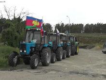 """Ростовская полиция заправила машины участников """"Тракторного марша"""" и сопроводила их домой"""