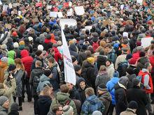 Желтые уточки, кроссовки, задержанные. В Екатеринбурге прошел митинг против коррупции