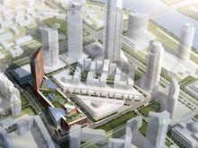 В районе Екатеринбург-Сити начали строить торгово-деловой центр