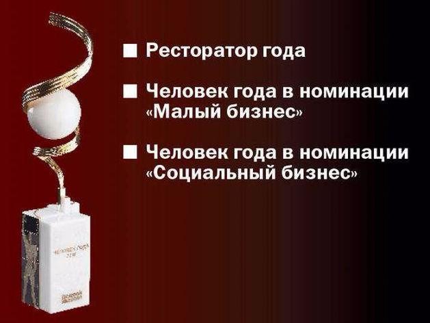 «Человек года»: лидеры номинаций «Ресторатор года», «Малый бизнес» и «Социальный бизнес»