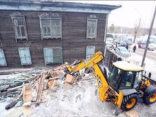 В историческом квартале Красноярска началась реконструкция: из домов убирают лишнее