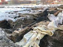 В Челябинске строительная компания случайно обнаружила фундамент дома начала XX века