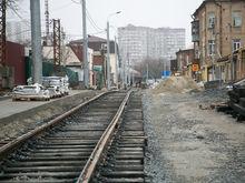 На Станиславского в Ростове продолжается укладка трамвайных путей ФОТО