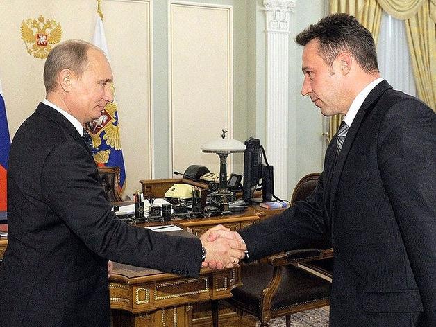 Владимир Путин и Игорь Холманских