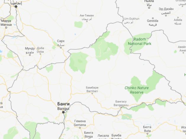 Карта Центральноафриканской республики
