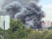 """Около завода """"Ростсельмаш"""" в Ростове произошел крупный пожар"""