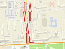 На улице Копылова в Красноярске вновь поменяют схему движения