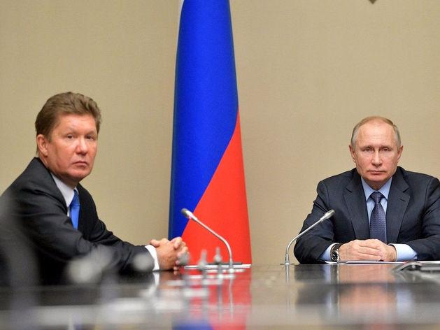 Алексей Миллер, глава «Газпрома», и Владимир Путин