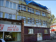 Бизнес Октябрьского района Красноярска приводит фасады своих зданий в порядок