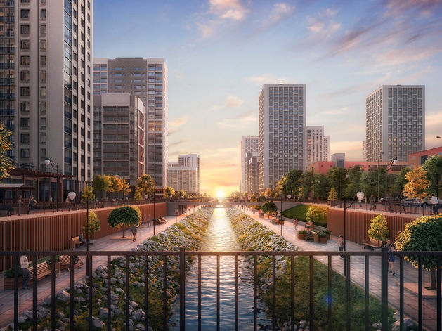 Отдых рядом с домом: как в Екатеринбурге строят квартал с парком, кораблем и набережной